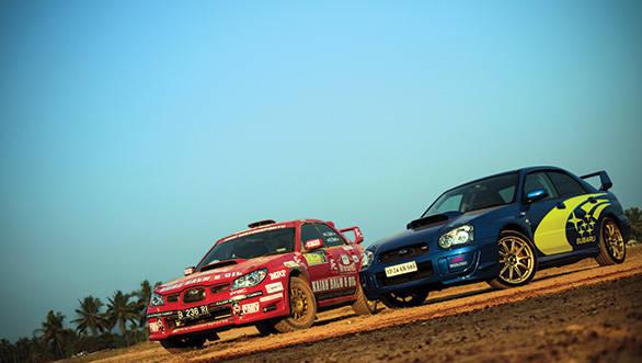 Rally and road Subaru Imprezas
