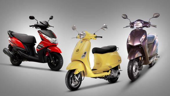 2013 Yamaha Ray Z vs Vespa VX vs Honda Activa-i