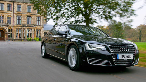 2013 Audi A8 L used as a reference