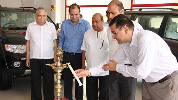 HM officials at the inauguration of the new showroom