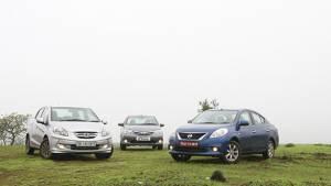 Honda Amaze vs Toyota Etios vs Nissan Sunny petrol
