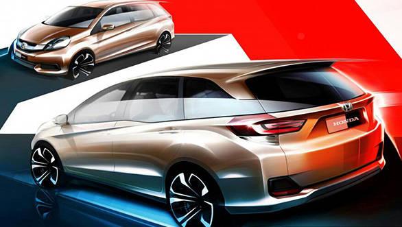 Sketch of Honda Brio-based MPV released in Indonesia