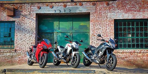 The Honda CBR500 family