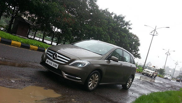 The B-Class diesel has been launched at an aggressive price tag of ? 22.6 lakh, ex-Mumbai