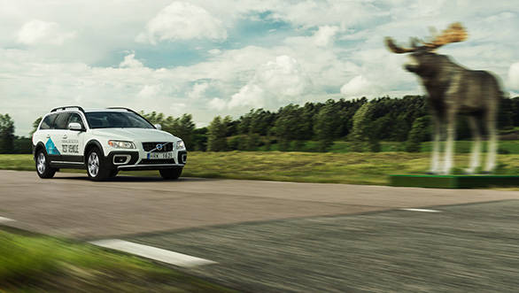 The new XC90 has animal detection technology to prevent collision with animals