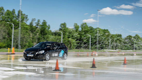 Volvo's new Car2Car technology will help drivers with the road and weather conditions