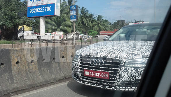 Audi A8 spotted on a test run in Mumbai