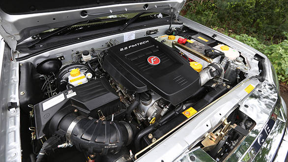 The engine  is the 2.2-litre Mercedes unit but the LX gets 4WD complete with a low ratio
