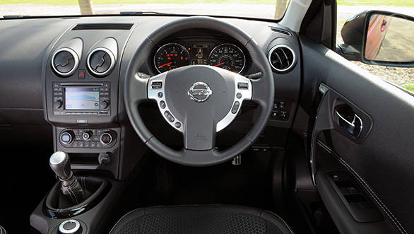 The Qashqai's interiors look well-made, even Audi-like with their silver and black tones