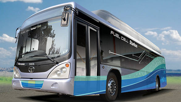 The fuel cell fitted bus was demonstrated at the Liquid Propulsion Systems Centre in the ISRO facility in Mahendragiri, Tamil Nadu