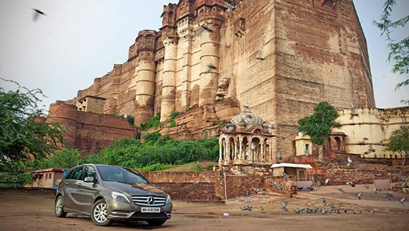 The B-Class at the Mehrangarh fort in Jodhpur