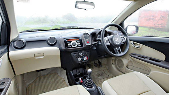 Similar interiors to the Brio but with a different colour theme