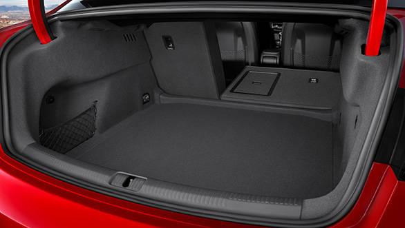 The A3 sedan's boot feels reasonably decent