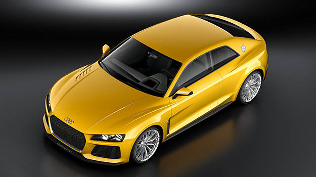 The Audi Sport Quattro concept continues the Audi tradition, with an attractive coupe silhouette and plug-in hybrid drive system