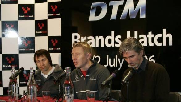 Heinz Harald Frentzen, Mika Hakkinen and Damon Hill - all three Michael Schumacher's rivals at some point.