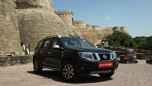 The top end diesel Terrano gets alloys, while the petrol version gets steel wheels