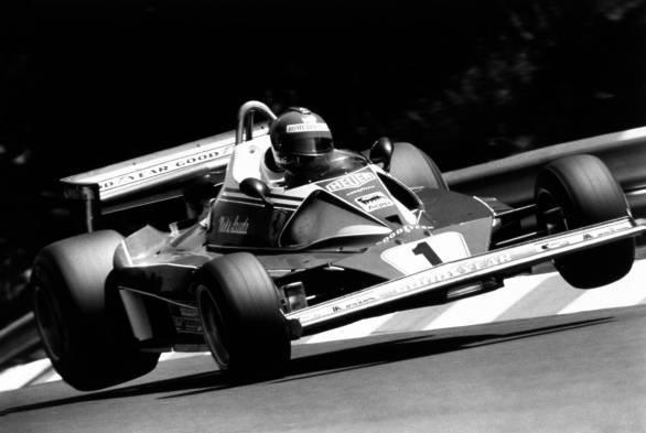 File photo of Niki Lauda in Ferrari