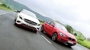 2013 Mercedes A-Class diesel vs BMW 1 Series diesel in India