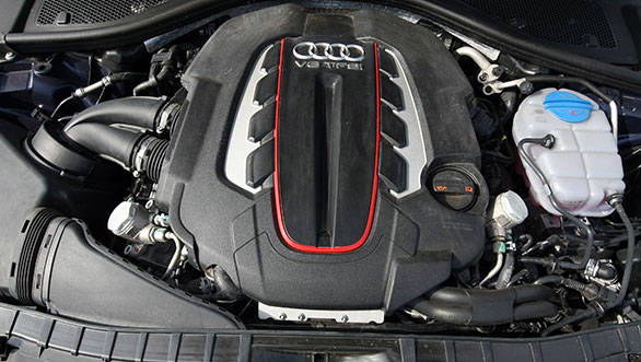 This turbocharged V8 engine is just 10PS short of what the R8 makes