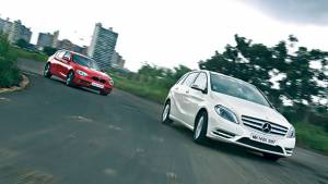 2013 Mercedes B-Class diesel vs BMW 1 Series diesel in India