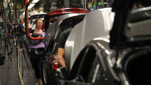 Ford celebrates 100th anniversary of world's first moving assembly line