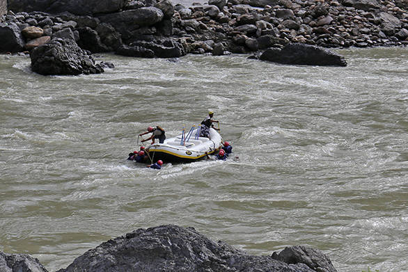 White water rafting at Rishikesh is a famous sport with both tourists and locals