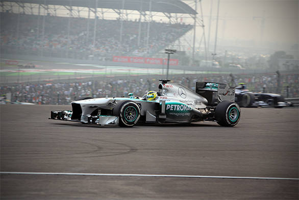 Nico Rosberg started off 3rd but finished 2nd