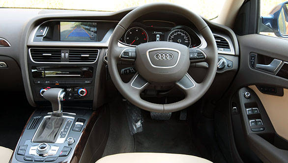 A sun roof, wood inserts for the interior, electric sun blinds for the rear windscreen, multi information display and cruise control are additions over the 143PS A4