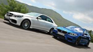 2014 Mercedes-Benz E63 AMG vs BMW M5 in India