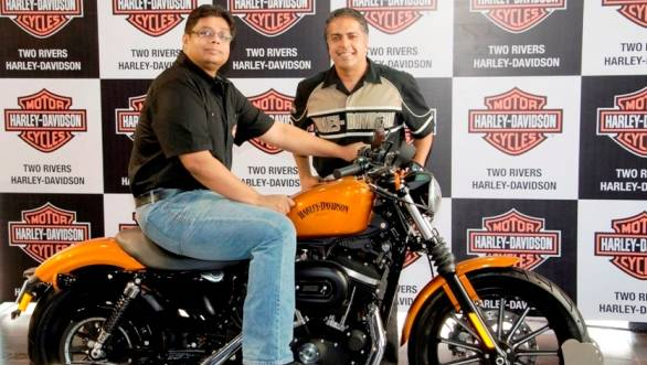 Sunil Christian (on the Bike) with Anoop Prakash
