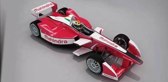 Mahindra Formula E racing car