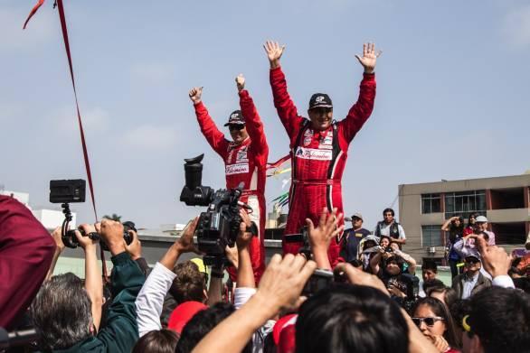 Richard Palomino and J Rodriguez - winners of the grueling rally