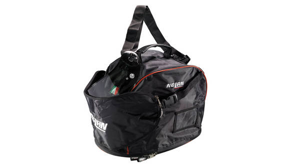 The helmet track bag with visor pouch