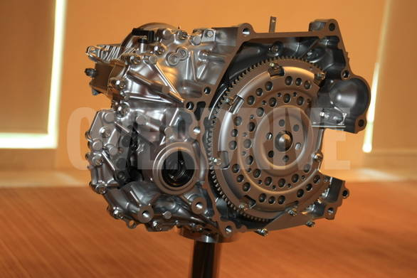 The cutaway section of the new CVT