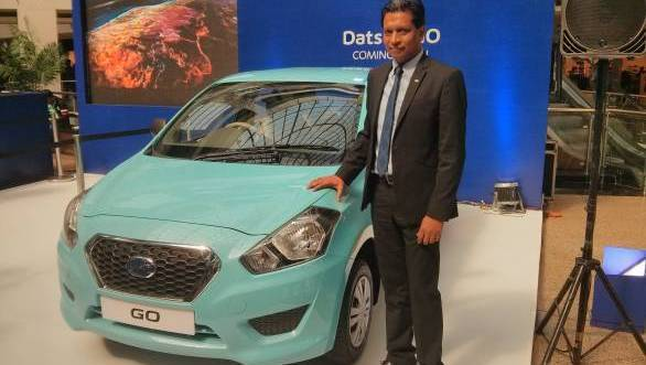 John Kullu seen here with the GO comes from Maruti Suzuki to Datsun and will be responsible for marketing at Datsun