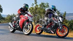 2013 KTM 390 Duke vs Honda CBR250R ABS in India