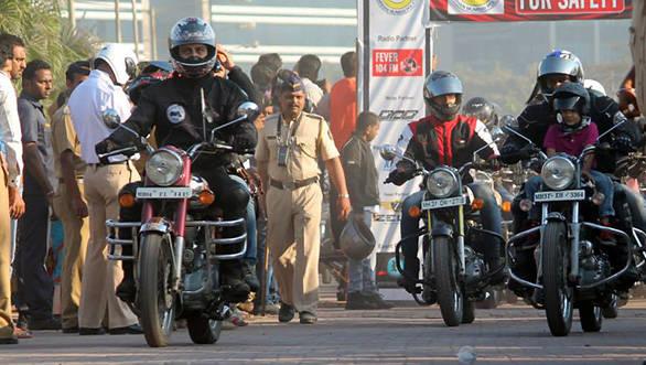 Riders at the RFS 2013 in Mumbai