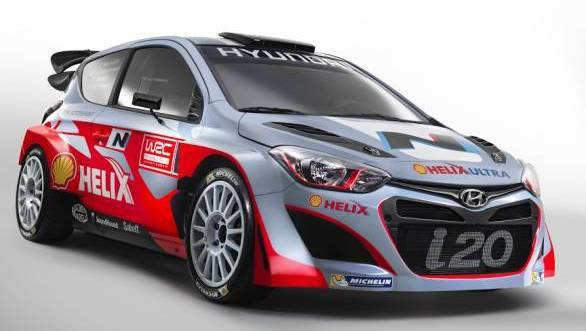 i20 WRC Three Quarter Front_vari