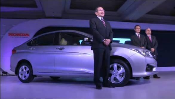 Honda officials with the all-new Honda City