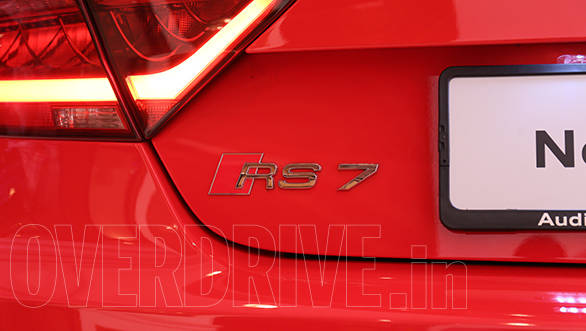 The RS 7 badging