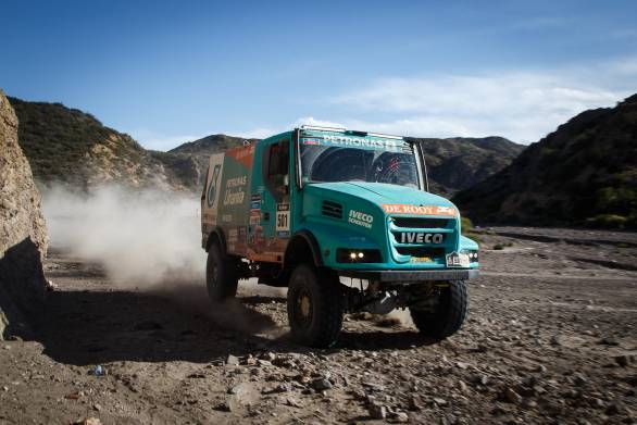 Iveco's Gerard De Rooy leads the truck category