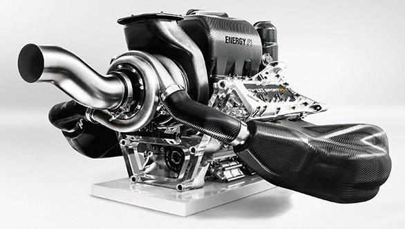 1.6 litres, V6 turbo engine for 2014 Formula 1 race cars