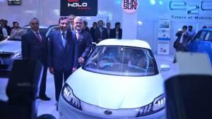 Mahindra working on performance electric cars