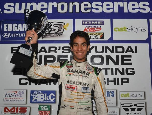 Jehan Daruvala is quickly moving up the ranks of international karting
