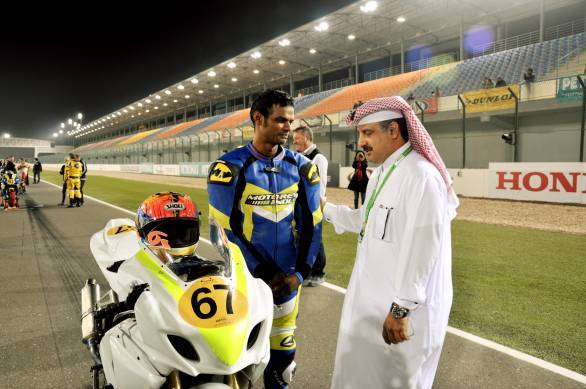 K Rajini has graduated to the 1000cc class in the Losail Asia Road Racing Championship this year