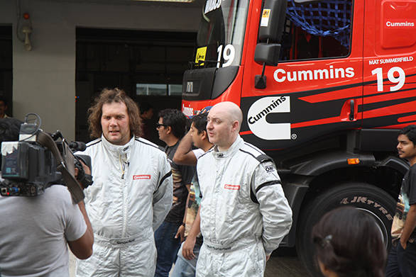 Paul McCumisky, veteran truck racer, has been racing since 1986
