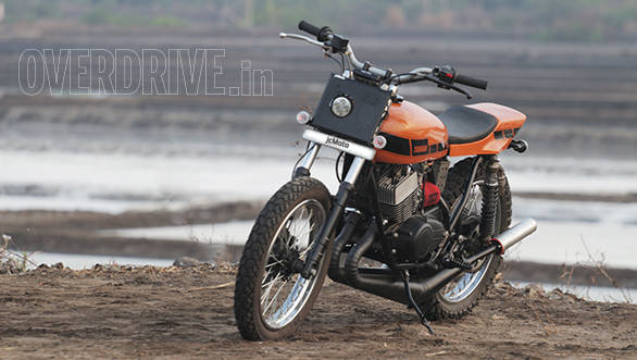 Wrapped up in speed blocks and orange, the RD350 looks light and responsive