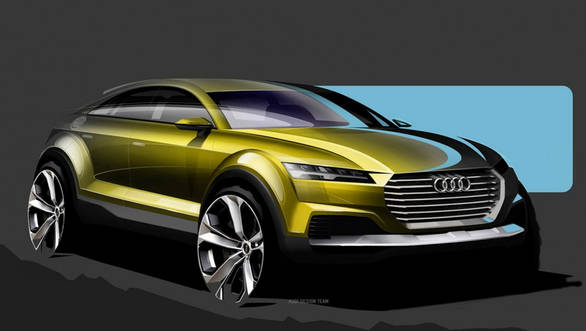 The Audi Q4 Concept combines crossover form with sporty styling seen recently on the new TT