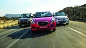 Datsun Go vs Maruti WagonR vs Hyundai i10 in India