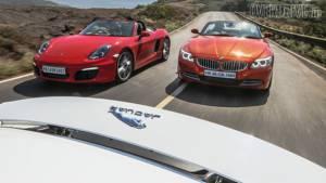 2014 Jaguar F-Type V8S vs Porsche Boxster S vs BMW Z4 sDrive35i
